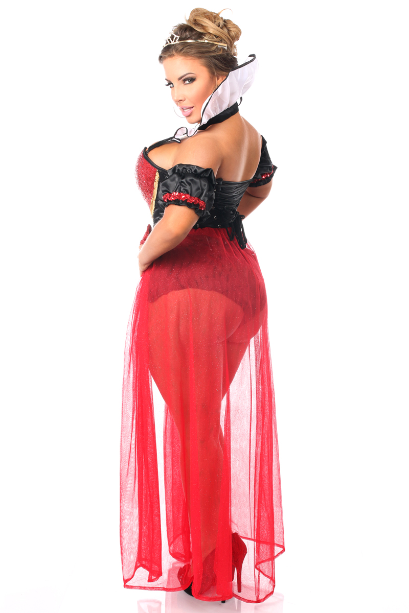Fairytale Queen of Hearts Corset Costume up to Size 6X