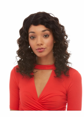 Finger Curl Lace Front Human Hair Wig Felicia