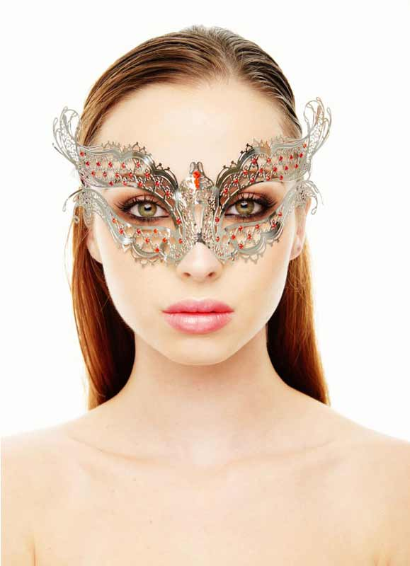 Fire And Ice Jewelled Masquerade Mask