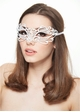 SALE Firefly Masquerade Mask with Crystals inset 2