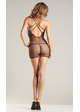 Fishnet Mini Dress with Double Criss Cross Straps inset 1