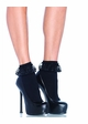 Flirty Schoolgirl Ankle Socks with Lace Ruffle inset 1