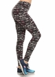Four Way Stretch Athletic Leggings in Abstract Pattern inset 1