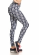 Four Way Stretch Athletic Leggings in Cubic Pattern inset 1