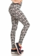 Four Way Stretch Athletic Leggings in Shadow Pattern inset 1