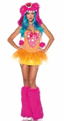 Fuchsia Shaggy Shelly Monster Halloween Costume