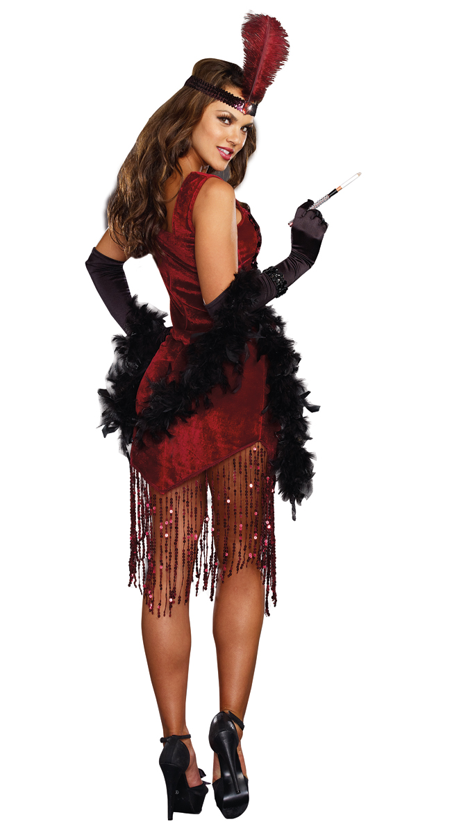 gatsby girl flapper halloween costume inset 2 - Halloween Mobster Costumes