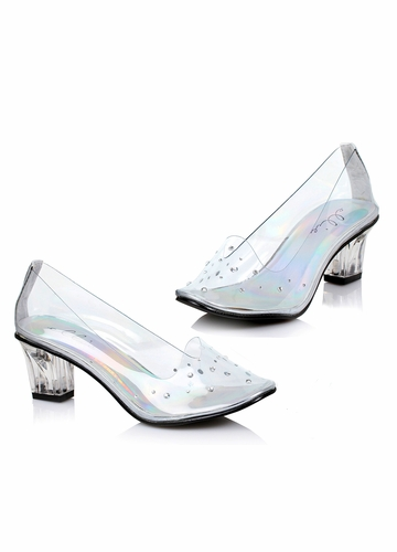 Glass Slipper 2 Inch Pumps with Crystals