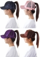 Glitter and Mesh Ponytail Baseball Hat by CC Brand inset 2