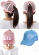 Glitter and Mesh Ponytail Baseball Hat by CC Brand inset 4