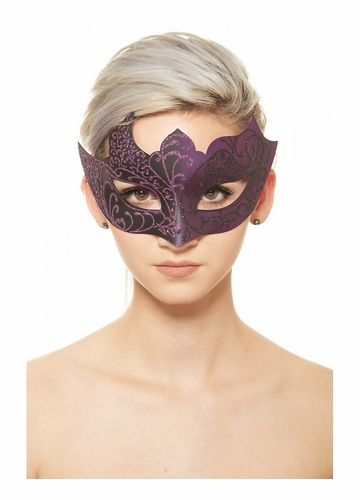 Glitter Scroll Masquerade Mask