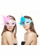 Glitter Scroll Masquerade Mask with Feathers inset 2