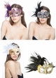 Glitter Scroll Masquerade Mask with Feathers inset 3
