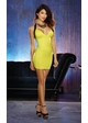 Glossy Snakeskin Knit Club Dress with Wide Elastic  inset 1