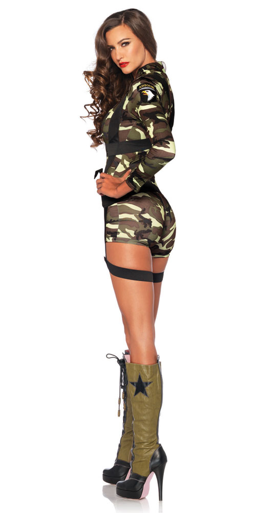 going commando army halloween costume inset 1 - Halloween Army Costume