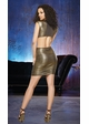 Gold Metallic Club Dress with Cut-Out Details and Ruched Skirt inset 2