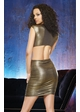 Gold Metallic Club Dress with Cut-Out Details and Ruched Skirt inset 3