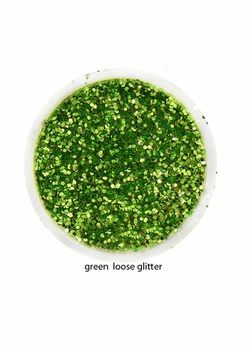 Green Color of Luxe Glitter Powder for Eyeliner and Eye Makeup