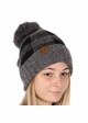 Grey Buffalo Checker Lined CC Beanie Hat with Pom inset 1