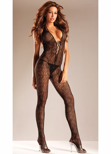 Halter Front Lace Bodystocking