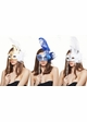 Handheld Swan Masquerade Mask With Feathers in 12 colors inset 4