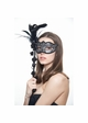Handheld Masquerade Mask with Flowers and Feathers inset 4