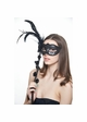 Handheld Masquerade Mask with Flowers and Feathers inset 3