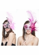 Handheld Swan Masquerade Mask With Feathers in 12 colors inset 2