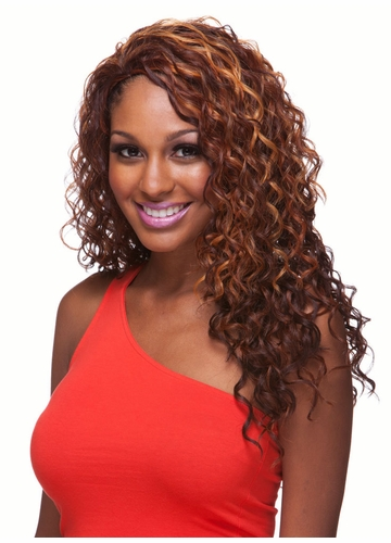 Heat and Styling Friendly Curly 3/4 Wig