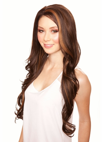 Heat Safe Lace Front Wig Kim with Very Long Tousled Curls