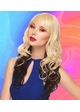 Heat Safe Long loose Curl Wig with Rich Bangs inset 1