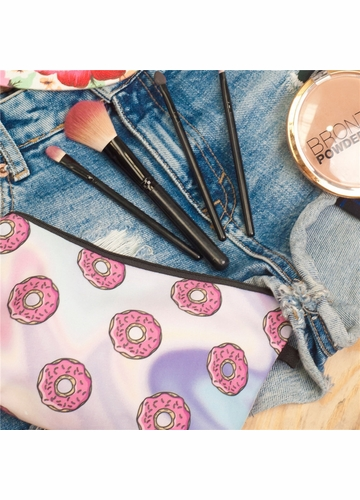 Holo Donut Cosmetic Bag
