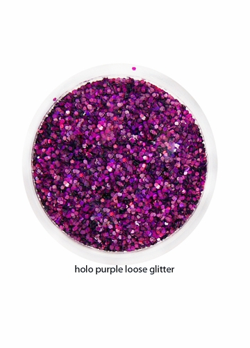 Holo Purple Color of Luxe Glitter Powder for Eyeliner and Eye Makeup