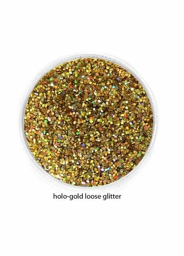 Holographic Gold Color of Luxe Glitter Powder - Eyeliner & Eye Makeup
