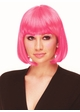 Hot Pink Bob Wig with Bangs Cindy inset 1