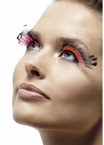Hot Pink Lashes with Black Spiky Tips