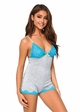 Jersey Knit and Blue Lace Romper inset 1