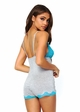 Jersey Knit and Blue Lace Romper inset 2