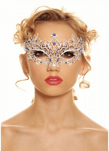 Jeweled Chiara Masquerade Mask with Gems