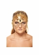 Jeweled Masquerade Mask with Chain Accents inset 2