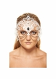 Jeweled Masquerade Mask with Chain Accents inset 3