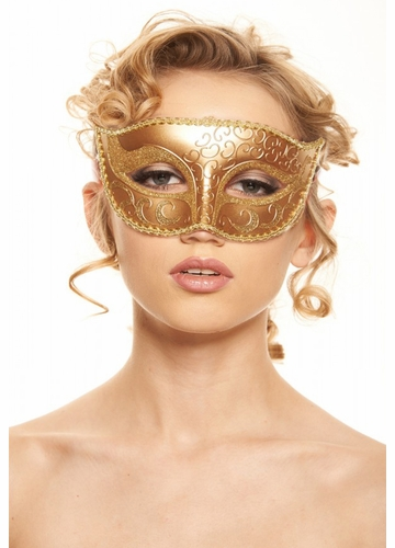 Just Dance Mask with Glitter Eyes and Swirls