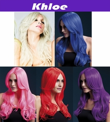 Khloe-Long Wave Wig with Center Part