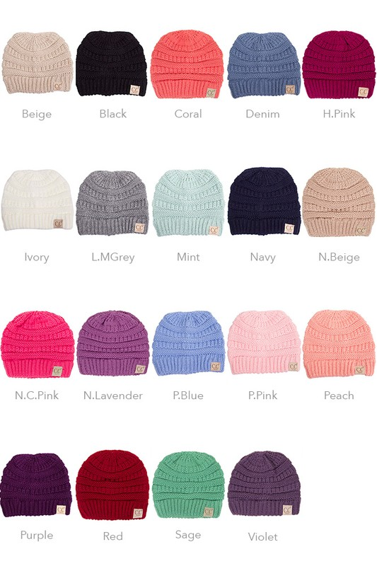 KIDS Knit Beanie Hat from CC Brand inset 1 ... d974e4c74cd