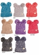 KIDS Knit Two Tone CC Beanie Hat with Two Pom Poms inset 2