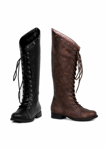Knee High Lace Up Huntress Boots