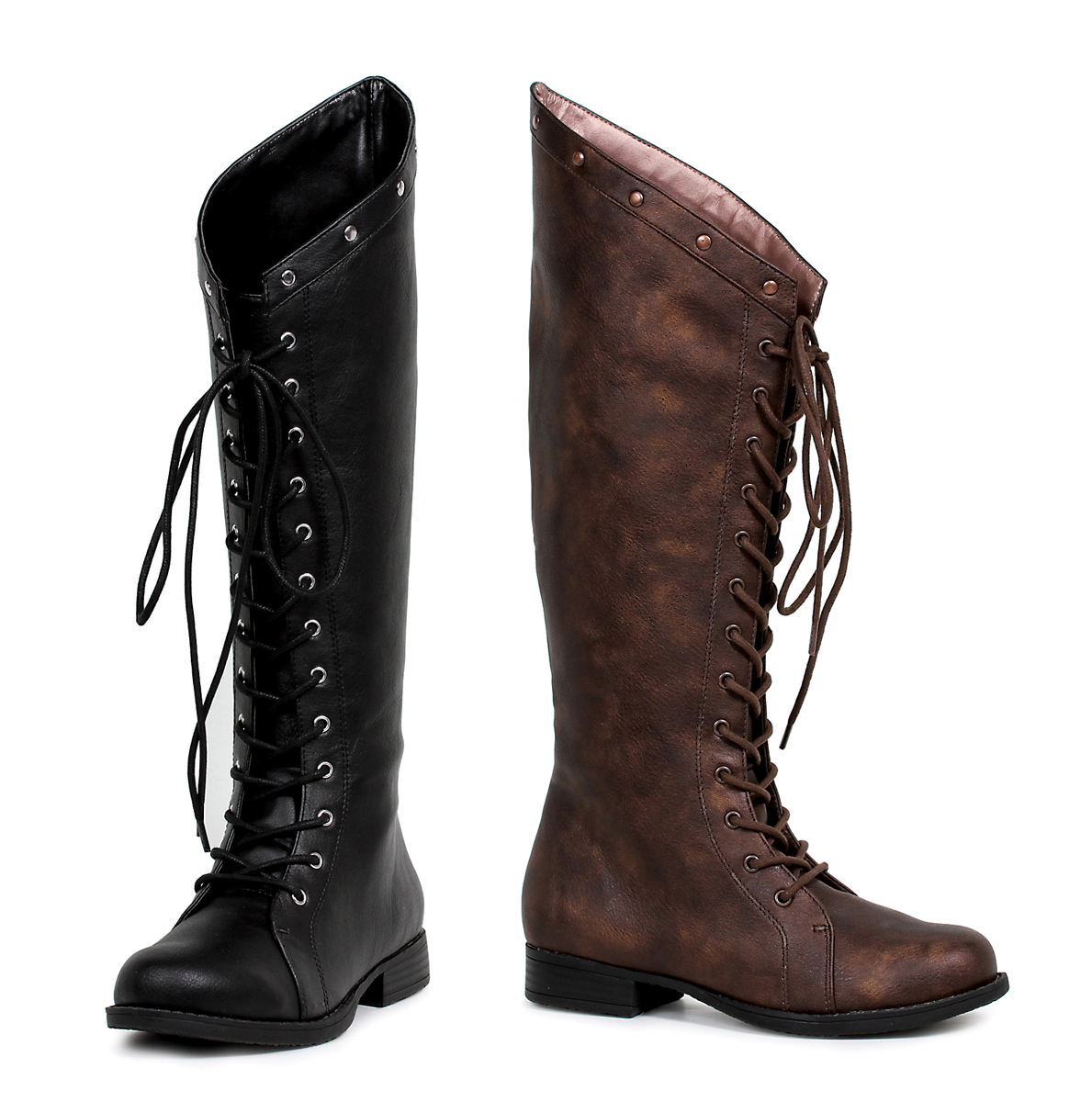 934d06b9cfe Knee High Lace Up Huntress Boots