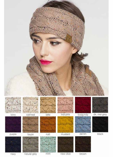 Knit Head Wrap with Sherpa Lining by CC Brand