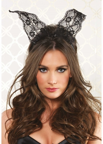 Lace Bunny Ears Headband