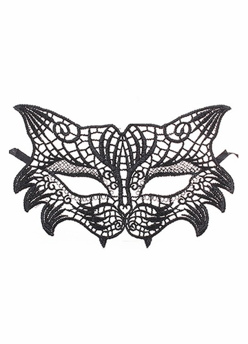 Lace Cat and Fox Mask